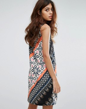 photo Aztec Printed Shift Dress by Warehouse, color Multi - Image 2