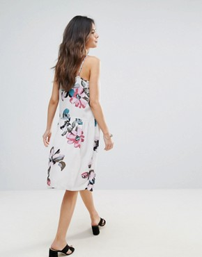 photo Floral Cami Dress by Soaked in Luxury, color Watercolour Print - Image 2