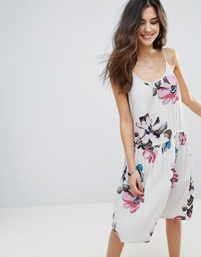 photo Floral Cami Dress by Soaked in Luxury, color Watercolour Print - Image 1