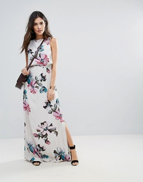 photo Floral Maxi Dress by Soaked in Luxury, color Watercolour Print - Image 1
