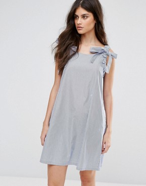 photo Derby Shift Dress by MAX&Co, color Light Blue Pattern - Image 1