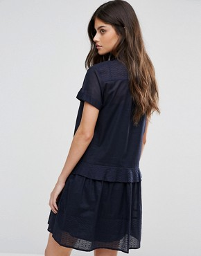 photo Delia Shirt Dress by MAX&Co, color Midnight Blue - Image 2