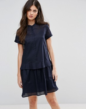 photo Delia Shirt Dress by MAX&Co, color Midnight Blue - Image 1