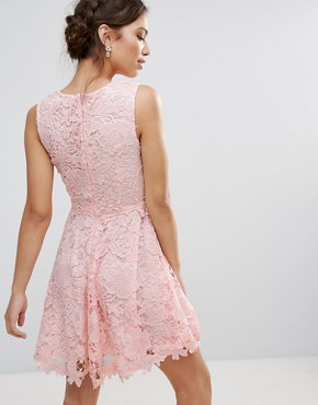 photo 3D Floral Lace Dress by Amy Lynn Occasion, color Pink - Image 2