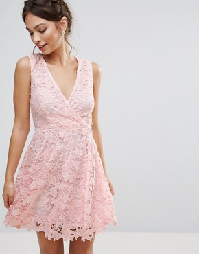 photo 3D Floral Lace Dress by Amy Lynn Occasion, color Pink - Image 1