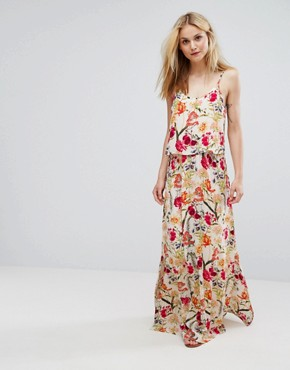 photo Floral Cami Maxi Dress by Soaked in Luxury, color Multi Flower Print - Image 1