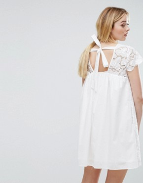photo Denise Embroidery Dress by MAX&Co, color Ivory - Image 1