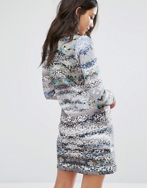 photo 3/4 Sleeve Printed Shift Dress by Lavand, color Multi - Image 2