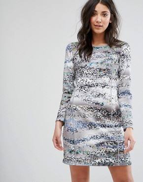 photo 3/4 Sleeve Printed Shift Dress by Lavand, color Multi - Image 1