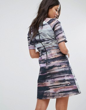 photo Structured Printed Skater Dress by Lavand, color Multi - Image 2