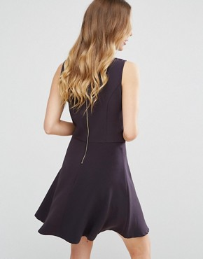 photo Structured Skater Dress by Lavand, color Black - Image 2