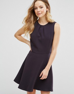photo Structured Skater Dress by Lavand, color Black - Image 1
