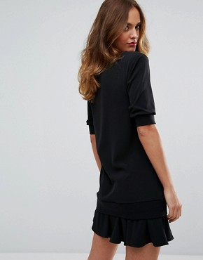 photo Dress with Frill Hem by Sisley, color Black - Image 2