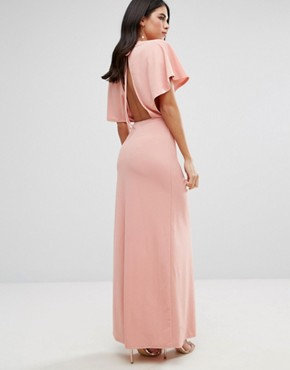 photo Maxi Dress with Kimono Sleeves by Oh My Love, color Rose - Image 2