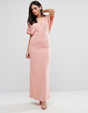 photo Maxi Dress with Kimono Sleeves by Oh My Love, color Rose - Image 1