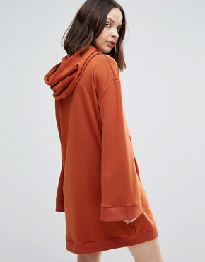 photo Notion Oversized Sweat Dress by TWIIN, color Brick - Image 2