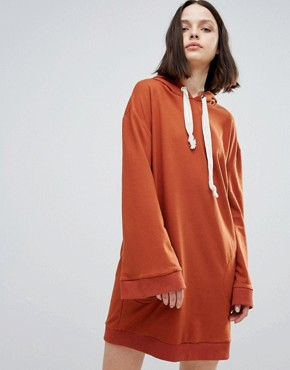 photo Notion Oversized Sweat Dress by TWIIN, color Brick - Image 1