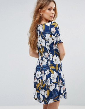 photo Pacifico Floral Tea Dress by MinkPink, color Multi - Image 2