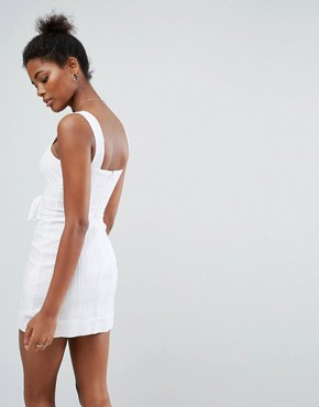 photo Destination Dress with Tie Detail by A State Of Being, color White - Image 2