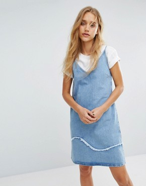 photo Strappy Denim Dress with Fray Detail by MiH Jeans, color Blue - Image 1