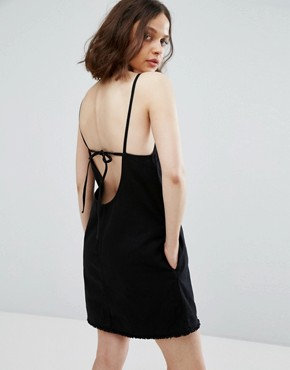 photo Cami Dress with Back Strap Detail by Weekday, color Black - Image 1