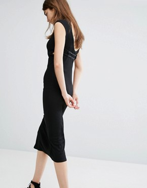 photo Open Back Midi Dress by Cheap Monday, color Black - Image 1