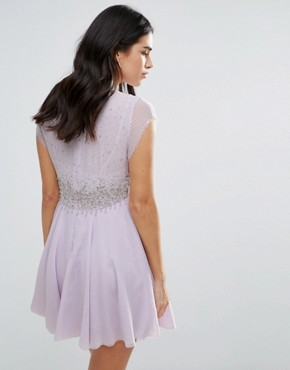 photo Rock Candy Embllished Party Dress by Free People, color Lilac - Image 2