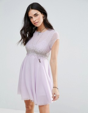 photo Rock Candy Embllished Party Dress by Free People, color Lilac - Image 1