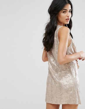 photo Paris Rock Shiny Party Dress by Free People, color French Rose - Image 2