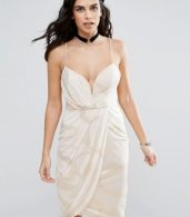 photo Wrap Evening Dress by Free People, color Pink - Image 1