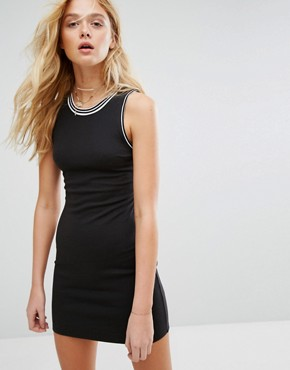 photo Bodycon Dress with Racer Back by Hollister, color Black - Image 2