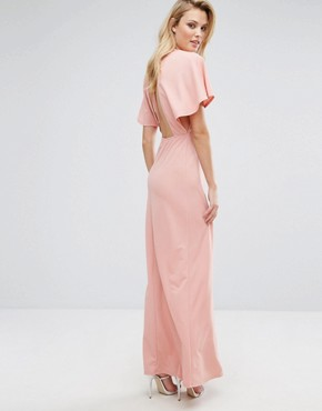 photo Maxi Dress with Kimono Sleeves by Oh My Love Tall, color Rose - Image 2