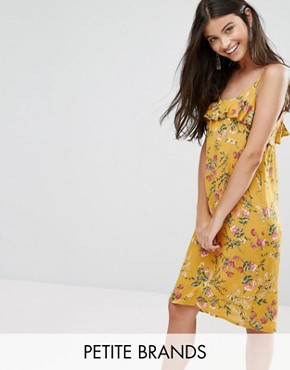 photo Cami Dress with Frill Top by Yumi Petite, color Yellow - Image 1