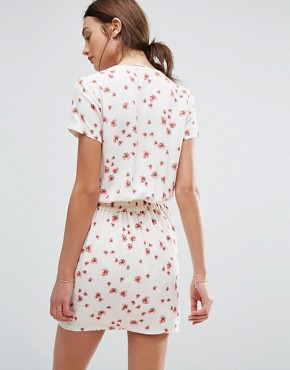 photo Floral Print Summer Dress by New Lily, color Ecru - Image 2