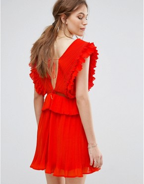 photo Embroidered Dress by Moon River, color Red - Image 2