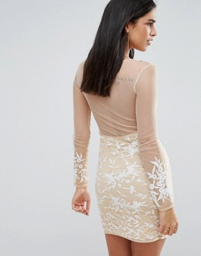 photo Lace Dress with Mesh Sleeves by RD & Koko, color White - Image 2