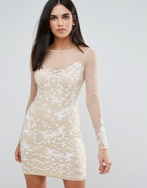 photo Lace Dress with Mesh Sleeves by RD & Koko, color White - Image 1