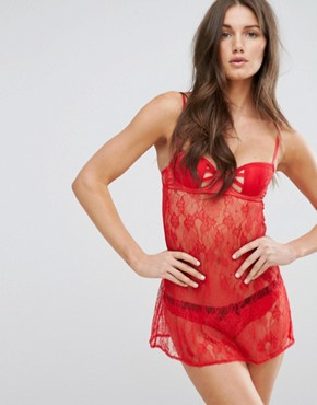 photo Nuisette Babydoll by Undiz, color Red - Image 1