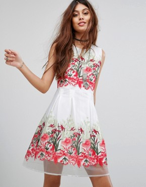 photo Prom Dress with Floral Embroidery by RD & Koko, color White - Image 1