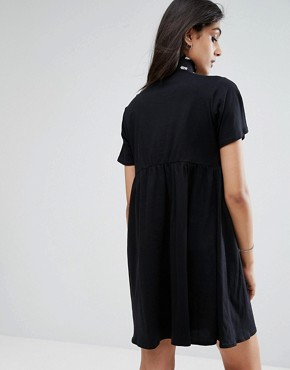 photo Smock Dress by ASOS TALL ULTIMATE, color Black - Image 2