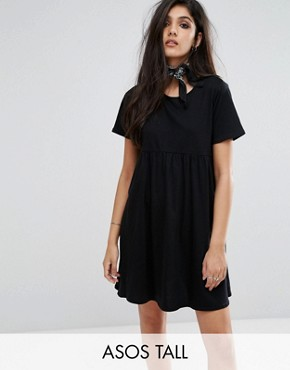 photo Smock Dress by ASOS TALL ULTIMATE, color Black - Image 1
