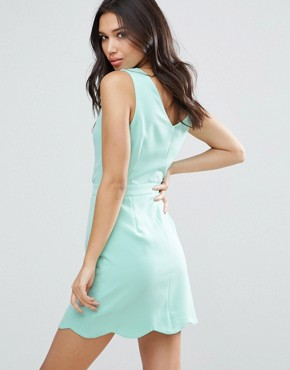 photo Scallop Edge Dress by Girls on Film, color Mint - Image 2