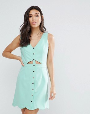 photo Scallop Edge Dress by Girls on Film, color Mint - Image 1
