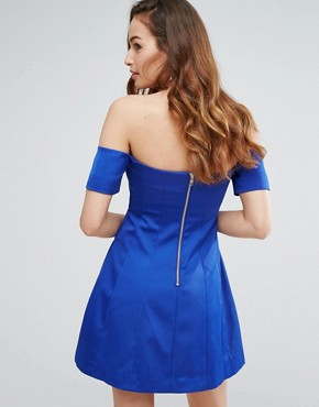 photo Off Shoulder Seamed Dress by Kendall + Kylie, color Blue - Image 2