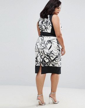 photo Mary Wrap Skirt Printed Pencil Dress by Coast Plus, color Multi - Image 2