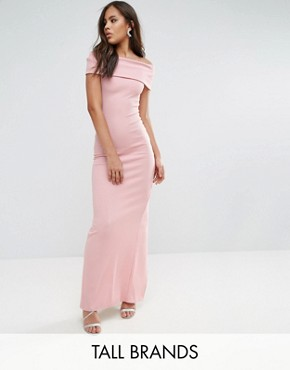 photo Bardot Maxi Dress by City Goddess Tall, color Pale Pink - Image 1