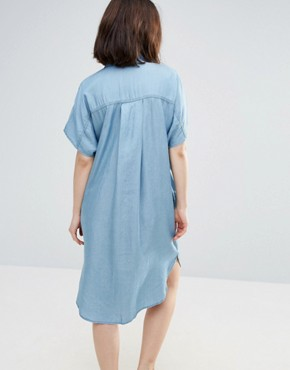 photo Dani Shirt Dress by Soaked in Luxury, color Medium Blue - Image 2