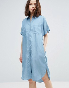 photo Dani Shirt Dress by Soaked in Luxury, color Medium Blue - Image 1