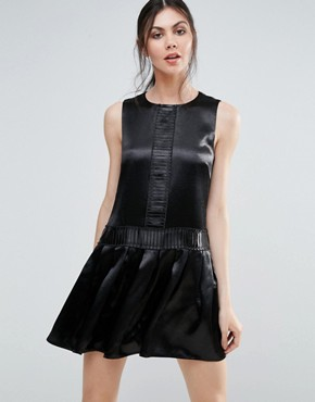 photo Metallic Shift Dress by Endless Rose, color Black - Image 1