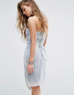 photo Strapless Dress by Religion, color White/Grey - Image 2